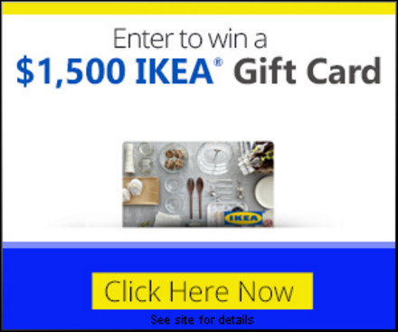 get a 1 500 ikea gift card expired. Black Bedroom Furniture Sets. Home Design Ideas
