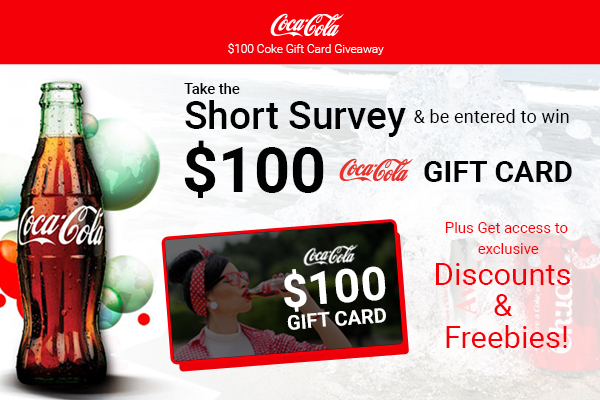 free gift cards without completing offers or surveys take a short survey and be entered to get a 100 gift card 6882