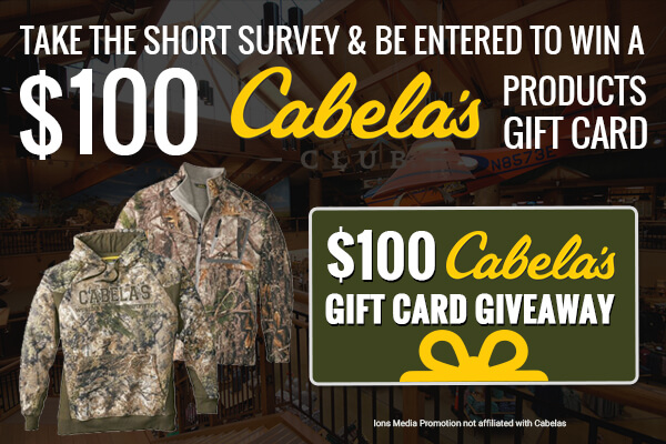 100$ goft card to Cabela's