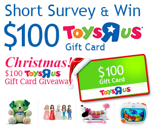 Christmas! $100 Toys R Us Gift Card