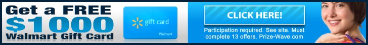 Get a free 1000$ Walmart gift card