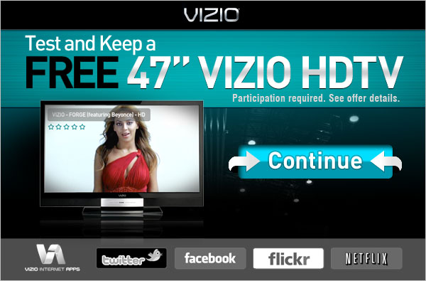 Test and keep free 47 Visio TV