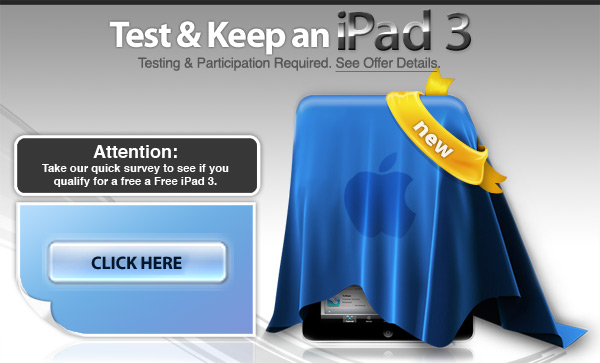 Test and Keep new iPad 3 for free