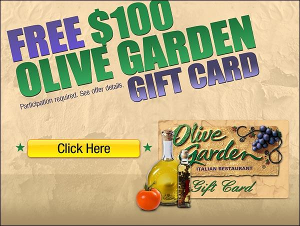 Olive Garden Italian Restaurant Gift Card