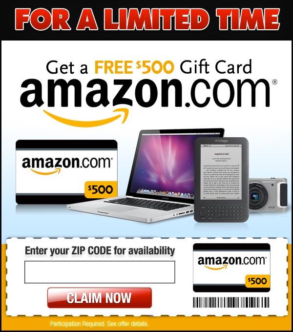 500$ Amazon Gift Card