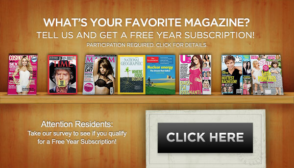 One year of free magazine subscription