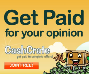 Cash Crate - get paid for your opinions