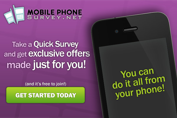 Mobile wap offers for users to complete surveys