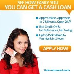 no fax bad credit cash advances loans