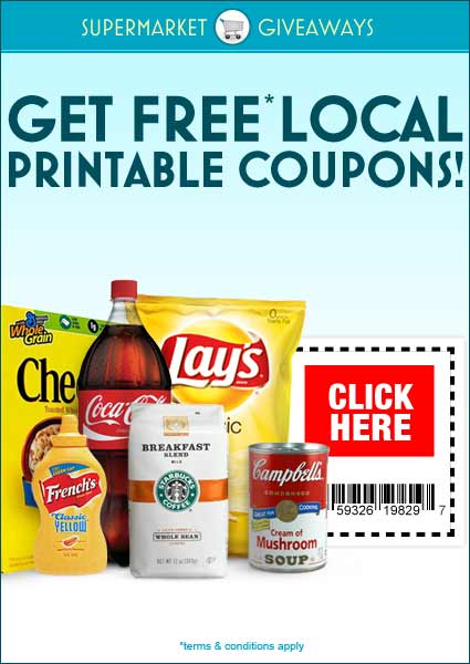 Super Market free coupons for products