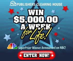 Pch10 Million Dollars Sweepstakes http://blog.sweepstakesupplies.com/2009/08/01/september-7-2009-winner/